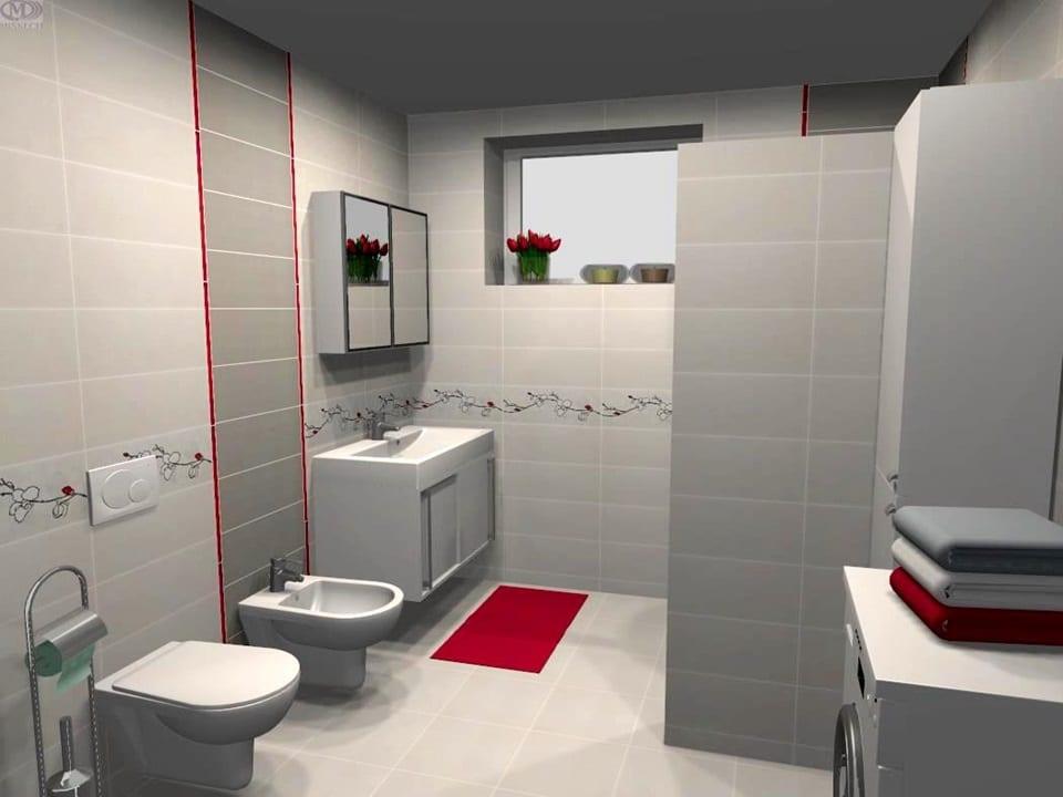 3D návrh jednoduchej kúpeľne