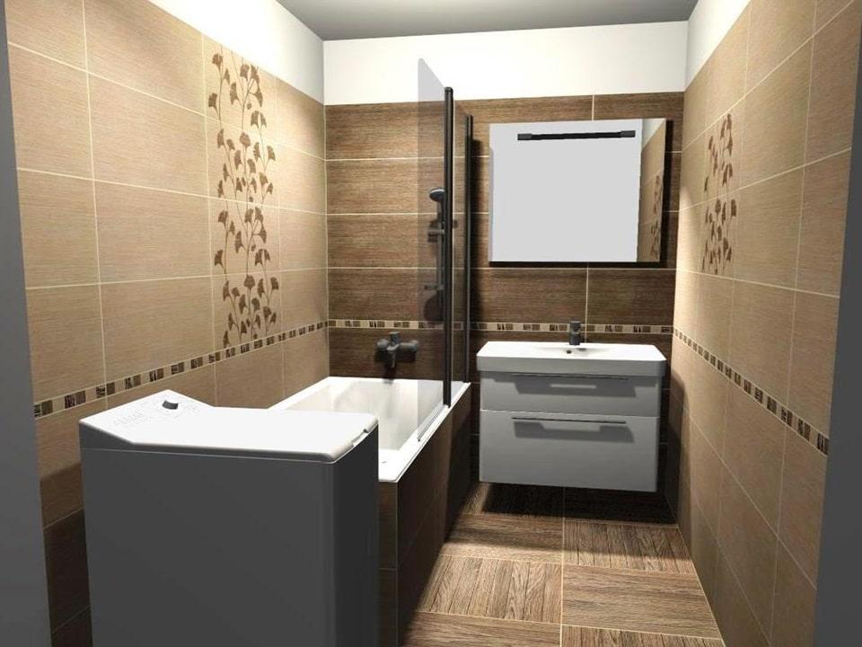 3D návrh malej kúpeľne