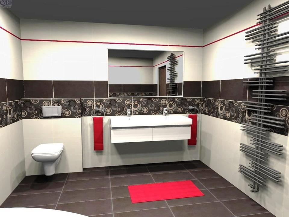 3D návrh modernej kúpeľne