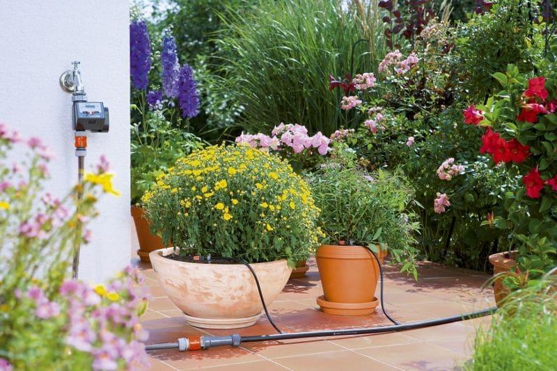 automatické zavlažovanie kvetináčov gardena