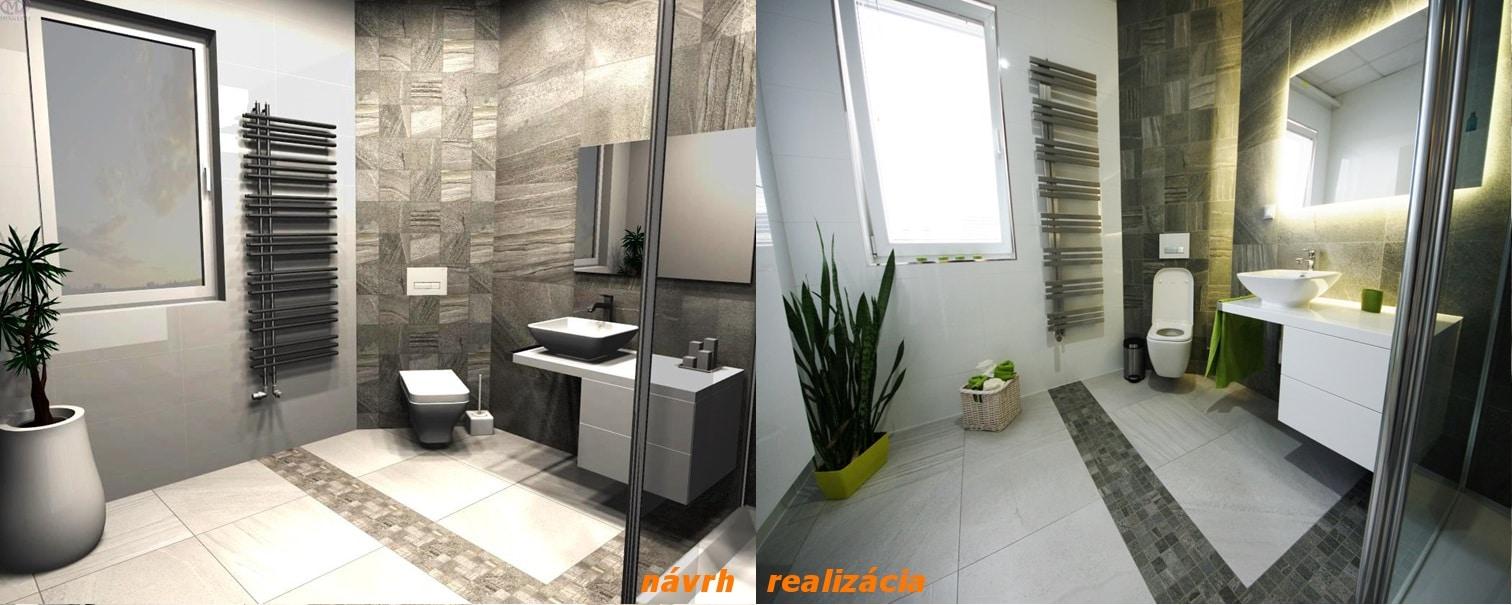 návrh a realizácia kúpeľne