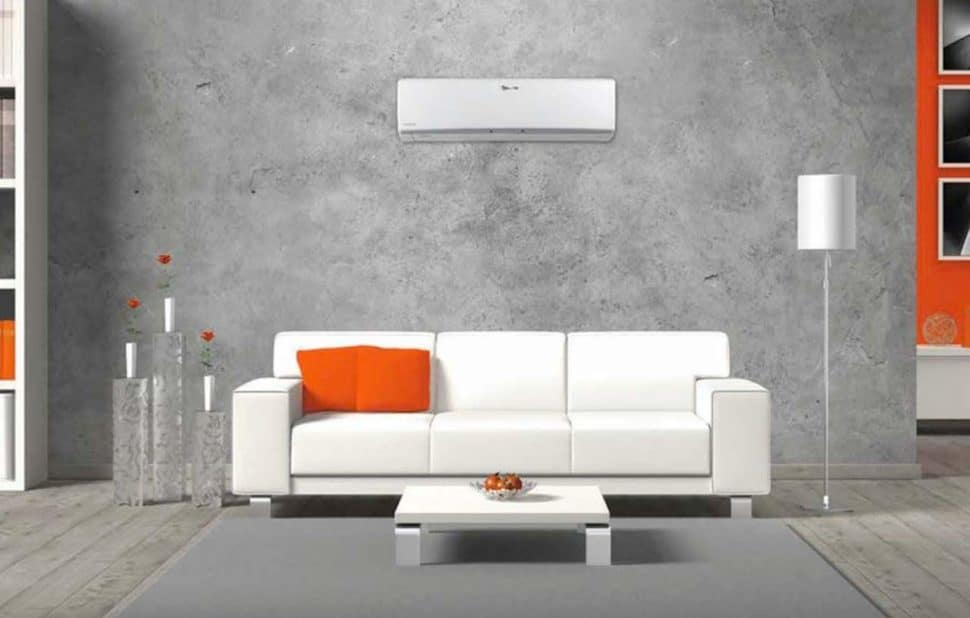Vnútorná závesná klimatizácia tepelný komfort
